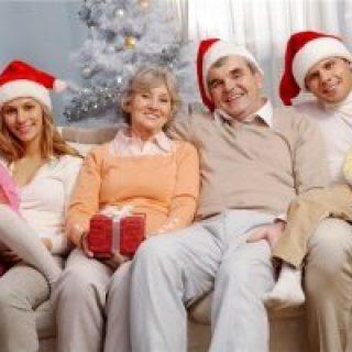 новый год в семейном кругу