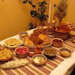 стол на Рождество